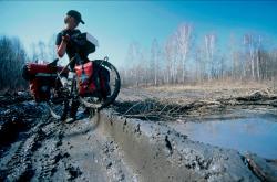 Aufgetauter Permafrost am nördlichen Irtych, 2005