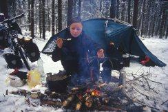 Lagerplatz in Polen, Winter 2005
