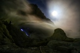 Blue fire in Ijen crater