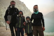 Ijen crater safety equipment
